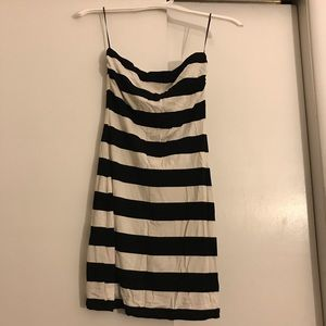 Trina Turk tube top black & white striped dress